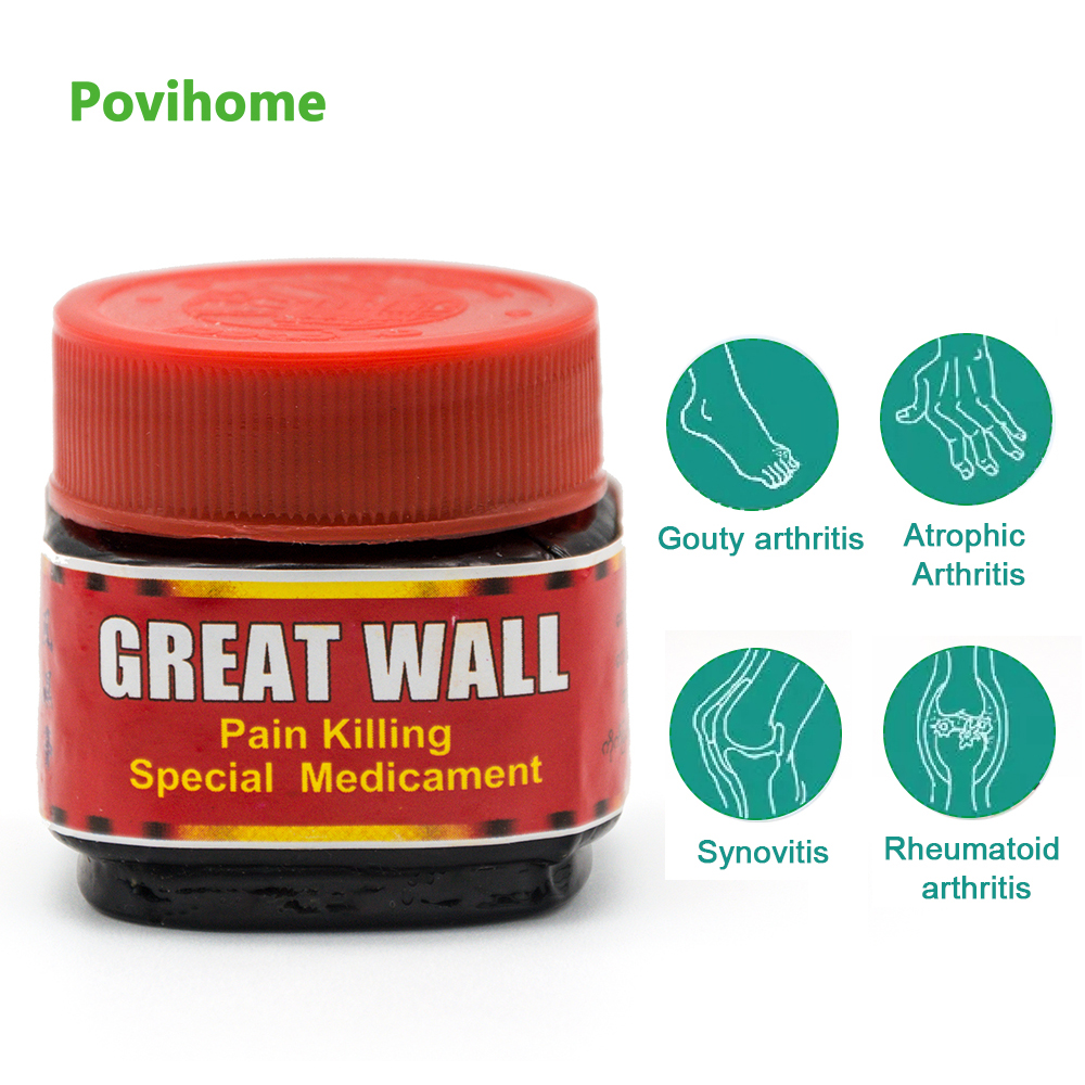 1pcs Rheumatism Arthritis Ointment Joint Muscular Aches Pain Balm Cream Scraping Massage Oil Body Pain Removal P0032