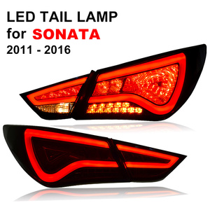 LED Tail Lamp for Hyundai Sonata 2011 2012 2013 2014 2015 2016 Red Smoked Black LED Tail Light Turning Signal and Brake Light