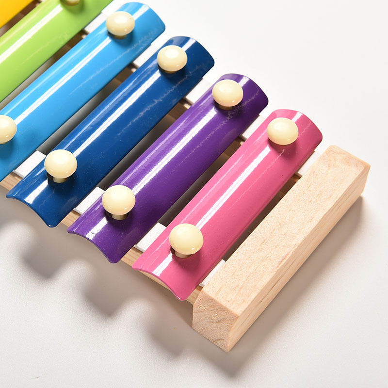 Learning&Education Wooden Xylophone For Children Kid Musical Toys Xylophone Wisdom Juguetes 8-Note Music Instrument 5