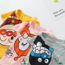Kids Baby Cartoon Anpanman T-shirts Short Sleeve