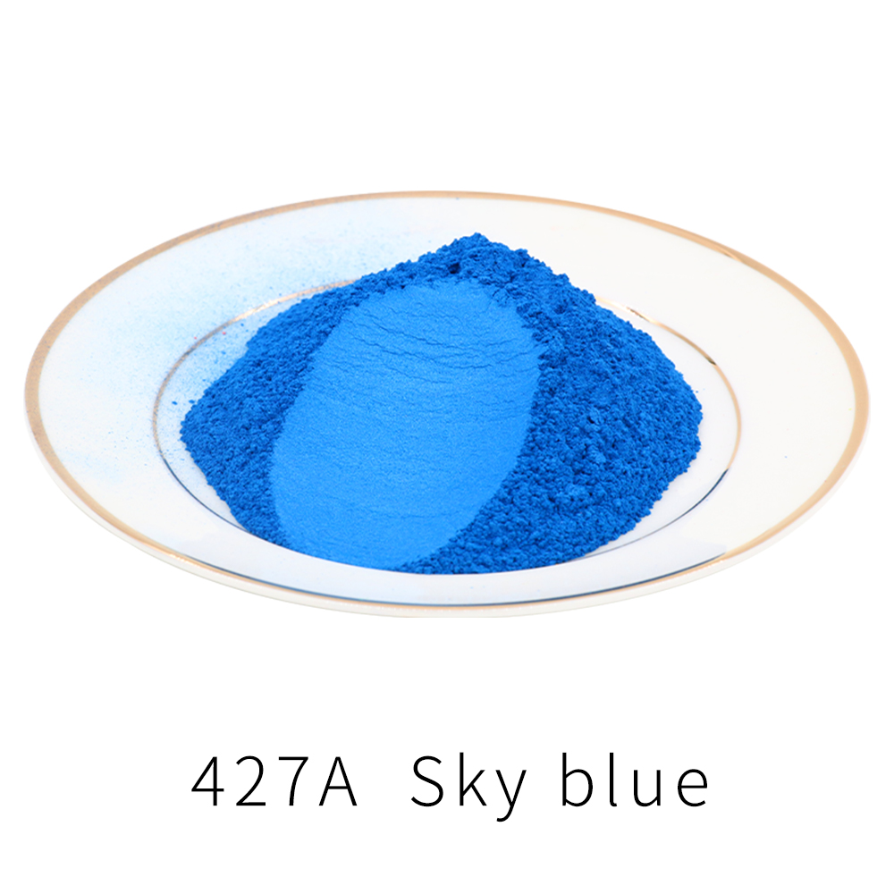 Pigment Mineral Mica Powder Type 427A 50g For Dye Colorant Soap Automotive Arts Crafts DIY Sky Blue Pearl Powder Acrylic Paint