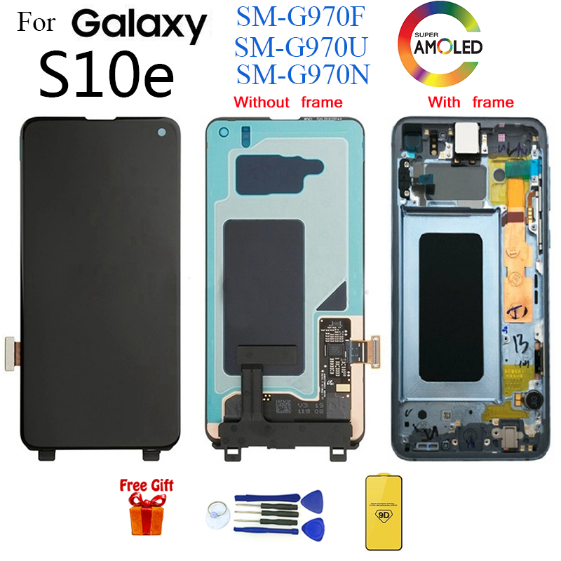 For Samsung Galaxy S10 e LCD G970F/DS G970U G970W <font><b>SM</b></font>-<font><b>G9700</b></font> Display with frame Touch Screen Digitizer For SAMSUNG S10e lcd image