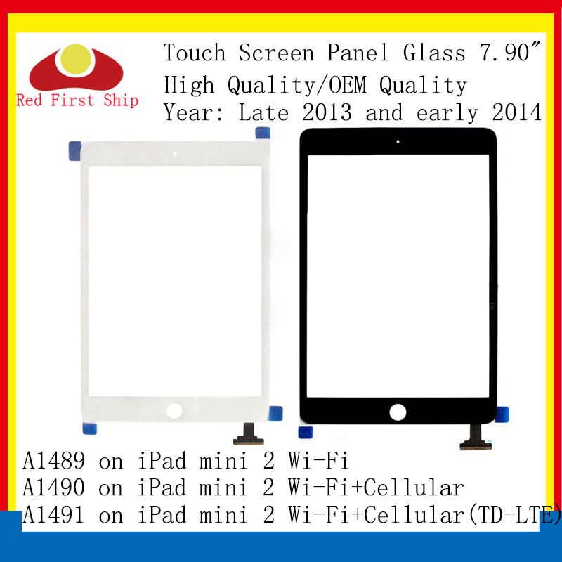 10Pcs/lot For <font><b>Ipad</b></font> <font><b>Mini</b></font> <font><b>2</b></font> Touch Screen Digitizer Touch Panel Sensor Glass Lens For <font><b>IPAD</b></font> Mini2 <font><b>A1489</b></font> A1490 <font><b>LCD</b></font> Front Outer image