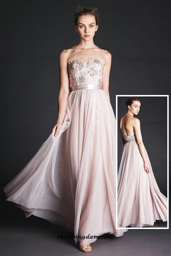 Light Pink Sweetheart Chiffon Bridesmaid Dresses Lace Appliqued Moden 2015 Hot Designer Party Dresses Vestido De Festa NB35