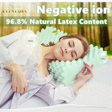 Moonlatex Thailand Original Natural Latex Pillow Health Care Vertebrae Orthopedic Physiotherapy Negative ion Neck Massage