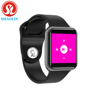Bluetooth Smart Watch Series 4 SmartWatch Case for Apple iOS iPhone Xiaomi Android Smart Phone samsung Apple Watch (Red Button)