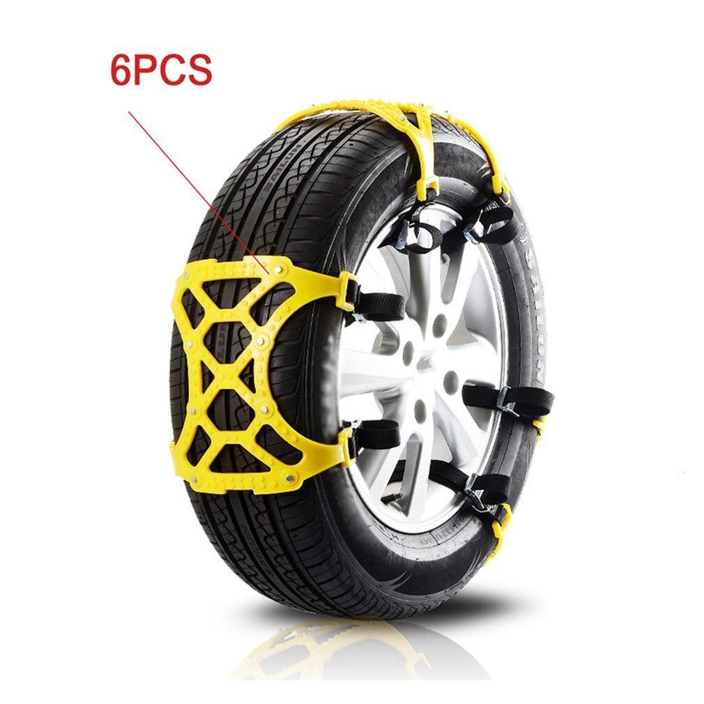 Chaînes de voiture universel Automobile anti-dérapant pneu neige chaîne TPU Durable chaînes 6 pièces Ox Tendon