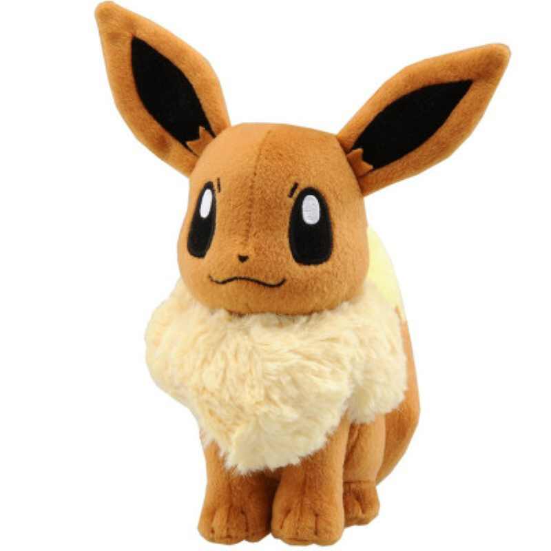 18cm Japanese Anime New Original Ibrahimovic Eevee Stuffed Animals Plush Doll Positive Good Quality Christmas Gift For Kids