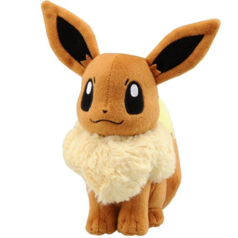 18cm Japanese Anime New Original Ibrahimovic Eevee Stuffed Animals Plush Doll Positive Good Quality Christmas Gift For Kids