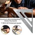 Измерительный инструмент, квадратная линейка из алюминиевого сплава, транспортир для столярных работ, трехквадратная линейка, направляюща...