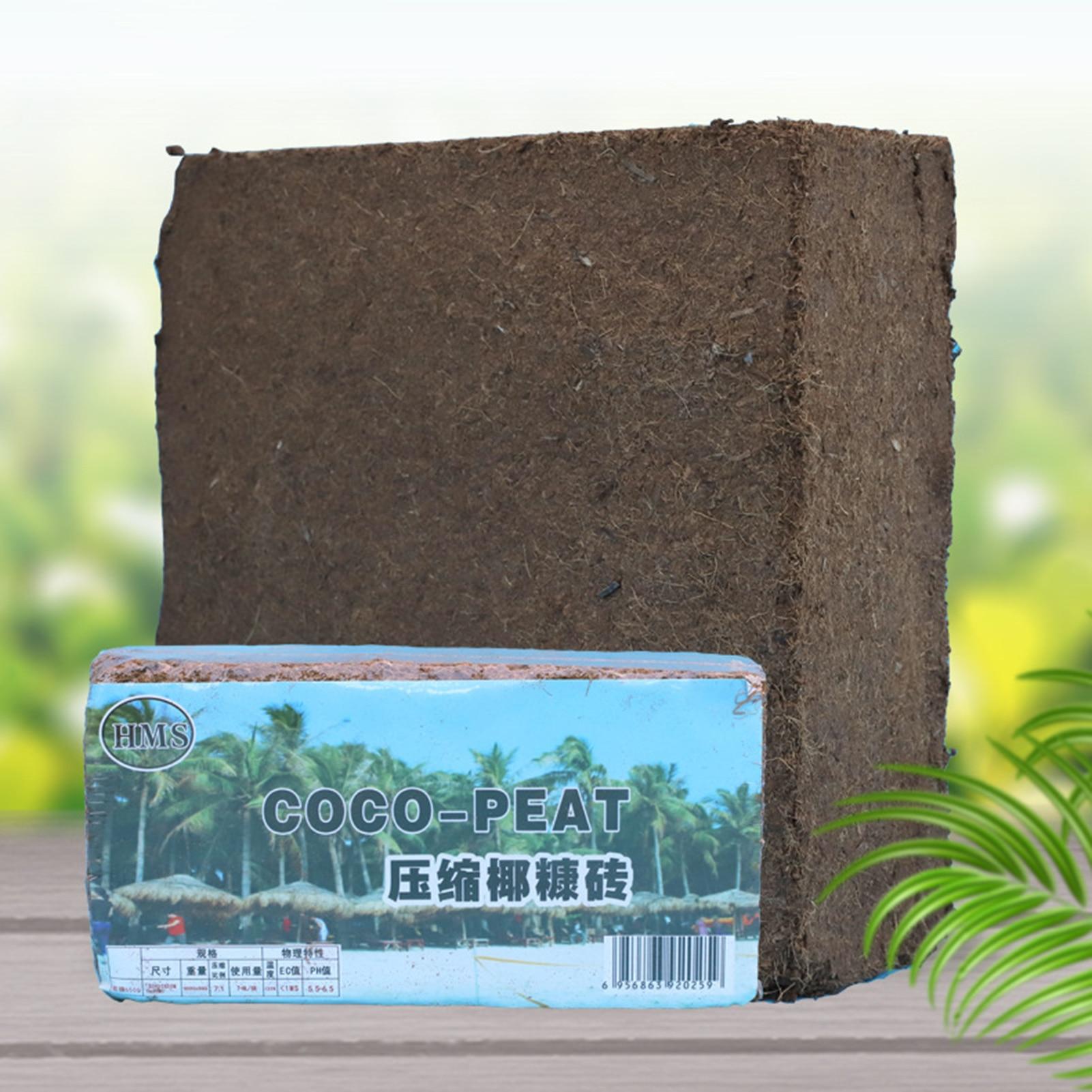 600g Coconut Coir Brick Peat Growing Organic Soilless Potting Garden Natural Plants Soil Nutrient Bed