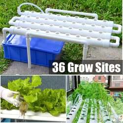 Гидропонная система горшки для выращивания набор оборудования садовые овощи коробка для посадки 36 мест гидропонная стойка держатель Soilless ...