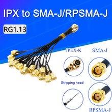 5 шт. кабель преобразователя антенны U.FL/IPX к SMA штекеру разъем RG1.13 ОТРЕЗОК кабеля SMA штекер к IPEX антенна, WiFi кабель