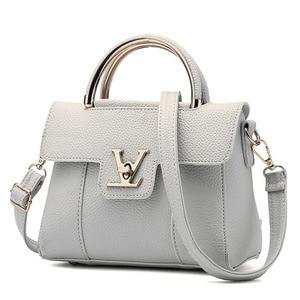 Image 1 - Women Handbags PU Leather Shoulder Messenger Bags lady Hand Bags High Quality Fashion Female Bag Crossbody Bags for Women 2020