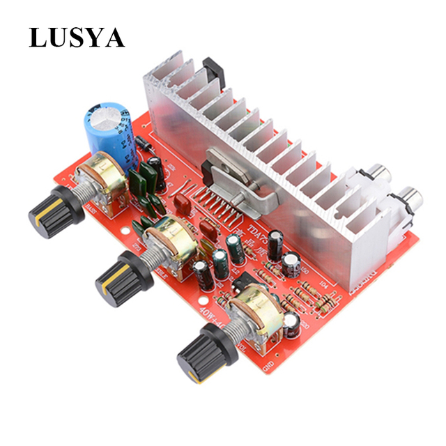 Lusya TDA7377デジタルオーディオアンプボード40ワット + 40ワットステレオ2.0チャンネル電源amplificadorのdiyのためにスピーカーDC12V E5 005