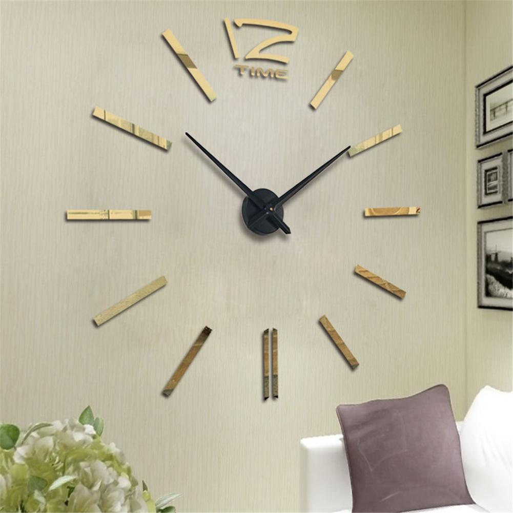 Wall-Clock-Sticker Big-Clock Digital Modern-Design Large Office-Decor Living-Room Mini