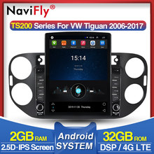 Navifly Tesla Scherm Hd 1024*768 Android Systeem Voor Vw Tiguan 2010-2016 Car Multimedia Speler Radio Rds wifi Audio Dvr(China)