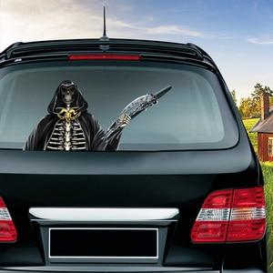Image 4 - Halloween Horror Character Wiper Sticker Removable Car Rear Windshield Waving Wiper Sticker Halloween Car Sticker