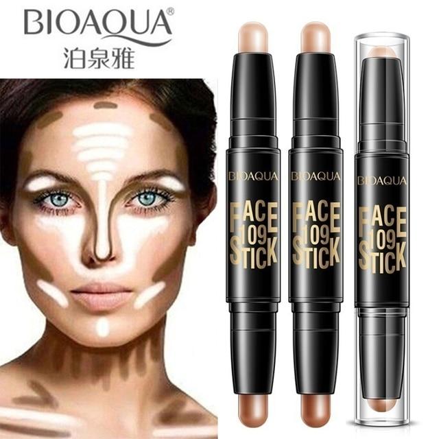 Bioaqua pro corretivo caneta rosto compõem líquido à prova dwaterproof água contorno fundação contorno maquiagem corretivo vara lápis cosméticos 1