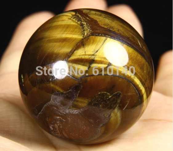 """YM 317 Ball & Globo 1.5 """"39 millimetri TIGER FERRO EYE Sfera Sfera di Cristallo Sfera di Guarigione Minerale"""