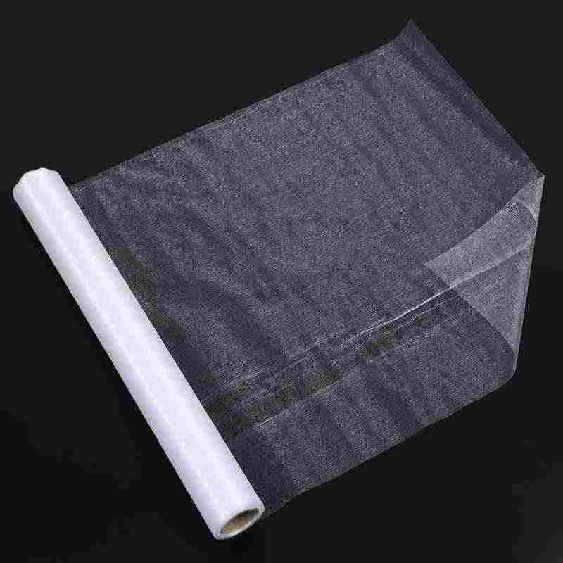 HLZS-10 ярдов x 48 см тюль из органзы, рулон прозрачной на свадьбу с бантом и настольных скатертей и Обёрточная бумага Декор
