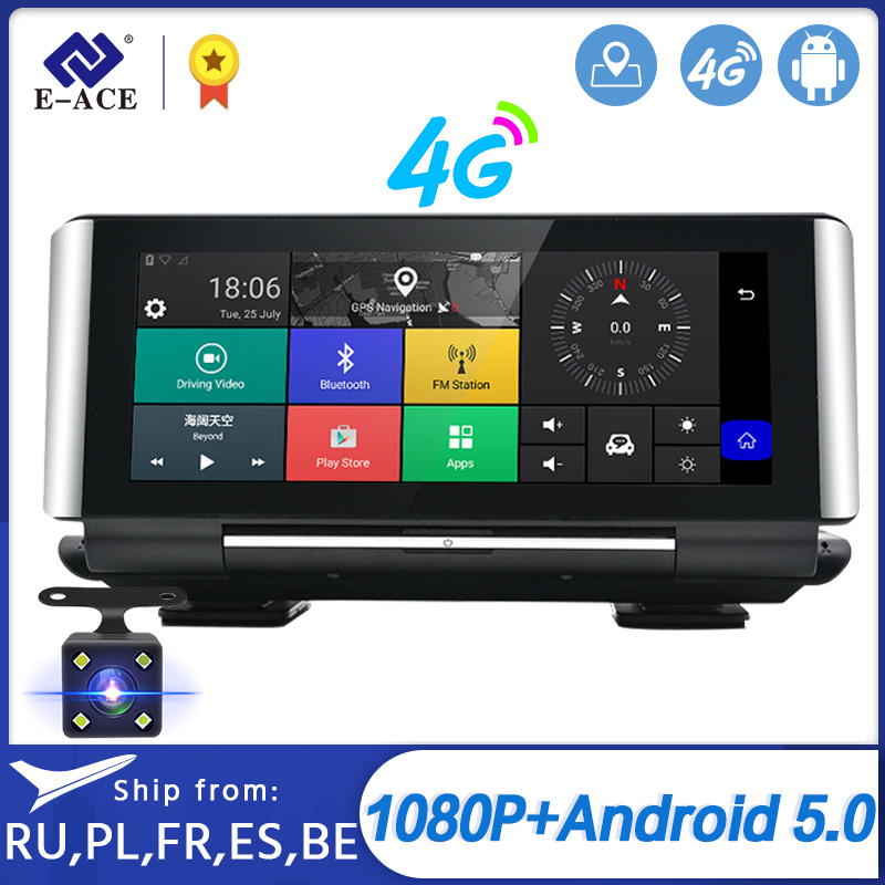 E-ACE E01 <font><b>Car</b></font> <font><b>DVR</b></font> <font><b>GPS</b></font> 4G Navigation Tracker 7