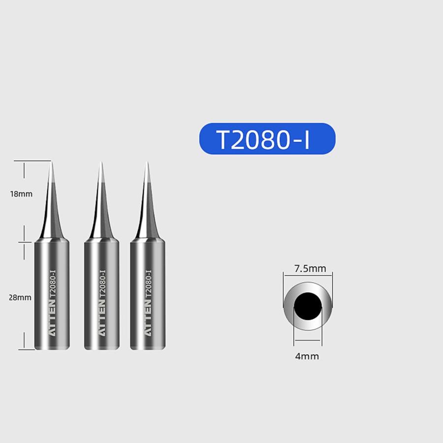 ATTEN Soldering Iron Tip Replacement Bit Head K B I 3C 5C 6.4C 3.2D 4.6D 6.5D 0.8D 1.6D 1.2D Lead Free for ST-2080 ST-2080D 3