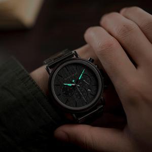 Image 3 - BOBO BIRD Luxury Wood Stainless Steel Men Watch Stylish Wooden Timepieces Chronograph Quartz Watches relogio masculino Gift Man