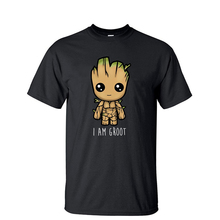 I Am Groot Men T Shirt Guardians of the Galaxy Movie Tshirt Summer Tops Tees Cas
