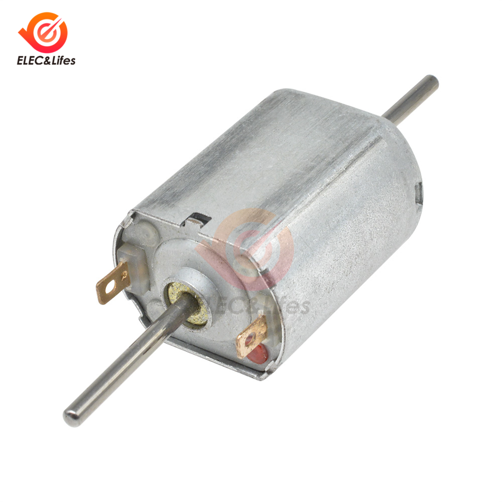 Electric Motor DC 6V-24V 12V 13500RPM Dual Dual Axis