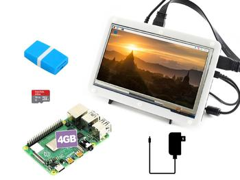 Raspberry Pi 4 Model B Display Kit with 7inch Capacitive Touch LCD, Micro SD Card, etc.