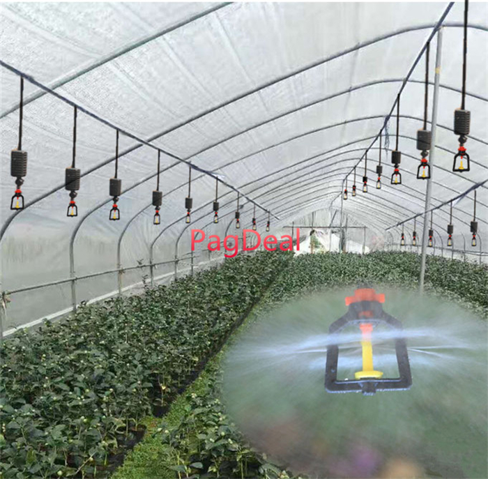 20M Set Agricultural Hanging Mist Sprayer Greenhouse Garden Irrigation Sprinkler System 16PE Outdoor Lawns Watering Kit