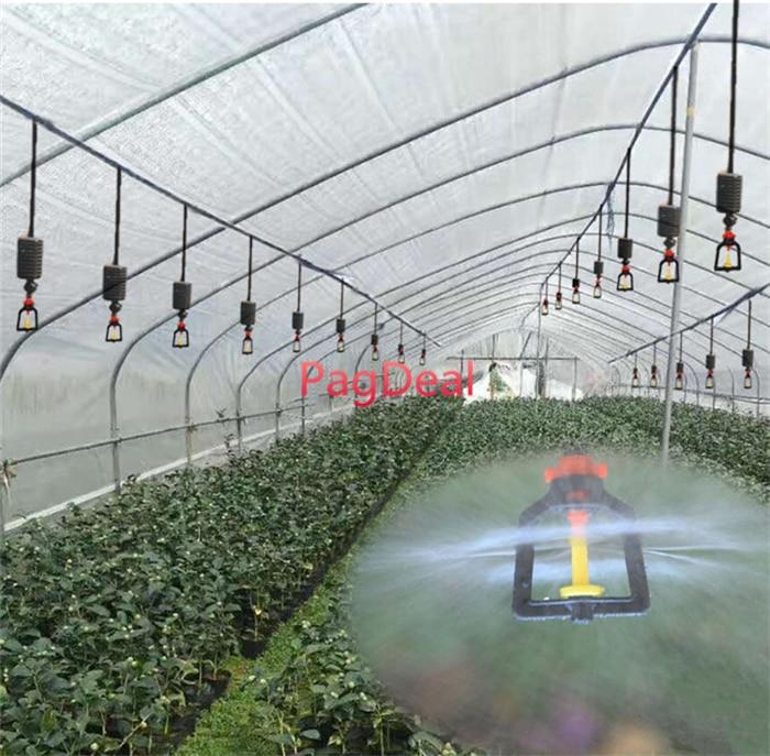 20M Set Agricultural Hanging Mist Sprayer Greenhouse Garden Irrigation Sprinkler System 16PE Outdoor Lawns Watering Kit