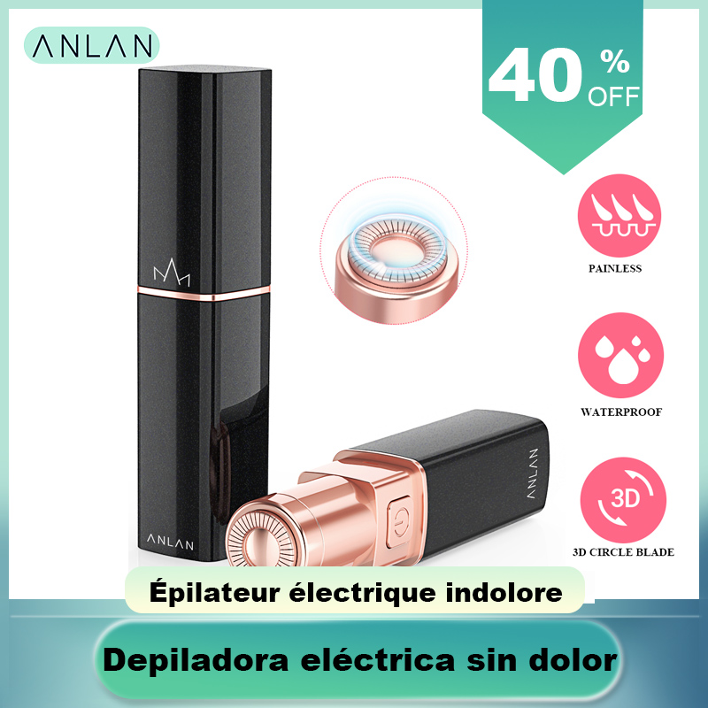 ANLAN Promotion Female Mini Electric Epilator Women Body Face Lipstick Shape Shaving Shaver Lady Hair Remover IPX6 Waterproof