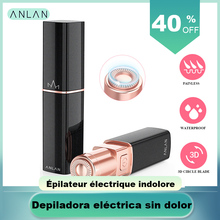 ANLAN Promotion Female Mini Electric Epilator Women Body Face Lipstick Shape Sha