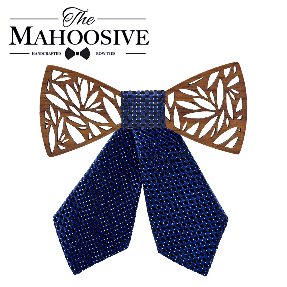 Mahoosive Women Bow Ties Family Christmas Gift For Girl, Wood Box Packaging With Laser Pattern