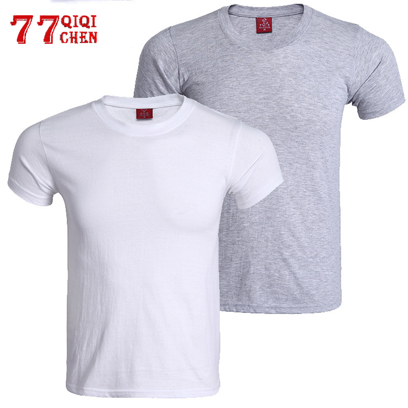Men T Shirt Tops O-Neck Short Sleeve Tees Men's Fashion Fitness Summer T-shirt For Male Breathable Cotton T Shirts Hombre