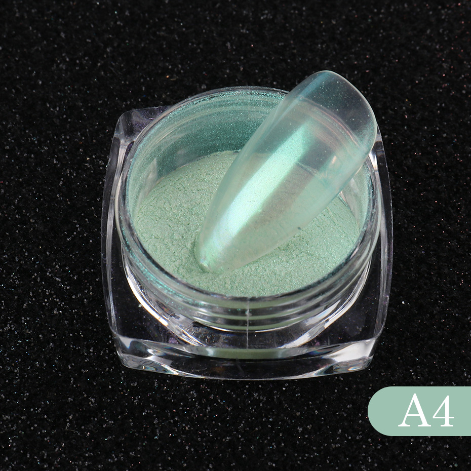 Nail Glitter Aurora Powder Mirror Pearl Chrome Pigment Dust Nail Art Decoration Polishing Mermaid Dip Powder (6)