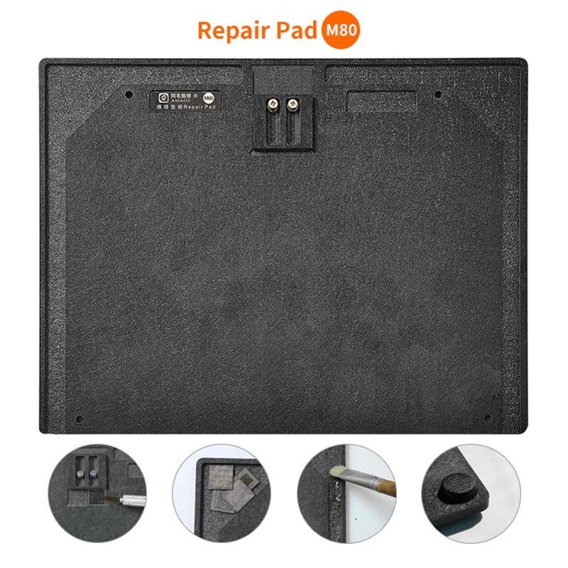Amaoe M80 Phone Repair Pad Mutifunction Synthetic Stone Soldering Repair Pad With Quick  IC Chip Glue Remove Slot Repair Mat