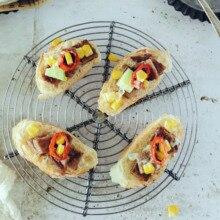 Tản Nhiệt Giá Để Bàn Thảm Chân Đế Cách Nhiệt Nồi Lót Bánh Bánh Nướng Bánh Sắt Màu Xám Bạc Thực Phẩm Đạo Cụ Chụp Ảnh