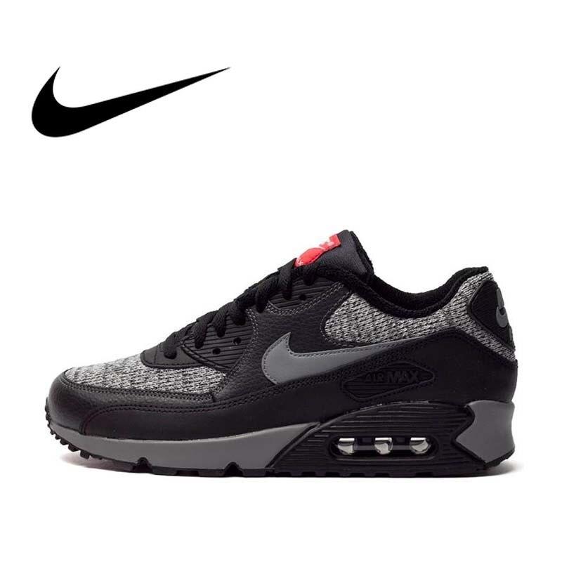 Original authentique NIKE AIR MAX 90 essentiel hommes chaussures de course Sport baskets en plein AIR respirant 2019 nouveauté 537384-053