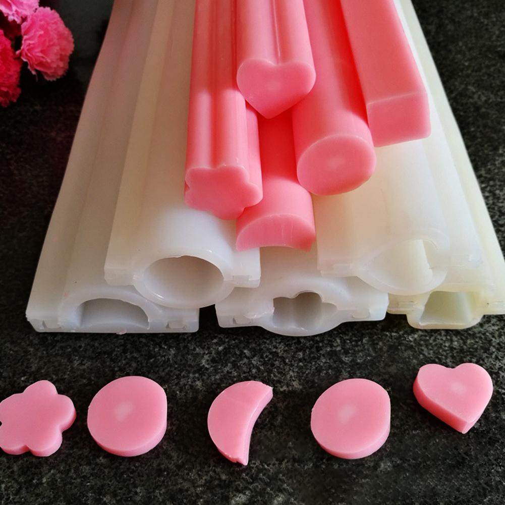 DIY Hand Soap Mold Silicone Tube Column Mould Dolphin Round Heart Shape Silicone Soap Mold Pipe Tube Handmade Cake Baking Tool