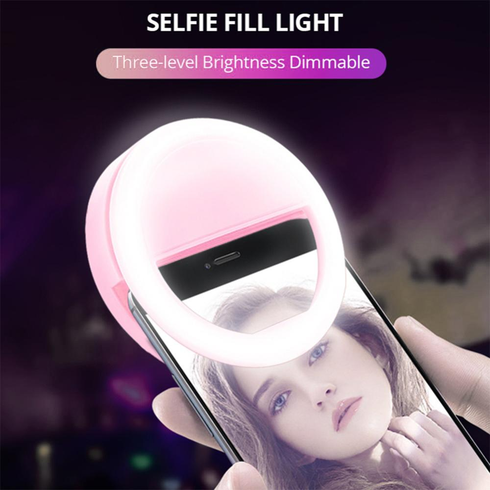 3000-5000K LED USB Charging Selfie Ring Led Light Lamp Mobile Phone Lens LED Selfie Lamp Ring light for Iphone Samsung Xiaomi