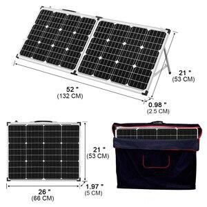 Image 3 - Dokio 100 Вт складной Панели солнечные Китай (2 шт х 50 Вт) 18V + 10A 12В контроллер элемент для солнечной батареи/модуль/Системы Зарядное устройство