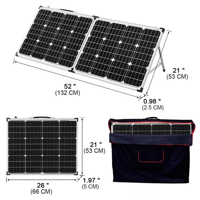 Фото dokio 100 вт складной панели солнечные китай (2 шт х 50 вт)