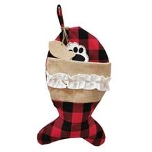 Home Decor Christmas Stockings Pet Socks Christmas Decorations Christmas Socks Gift Bags