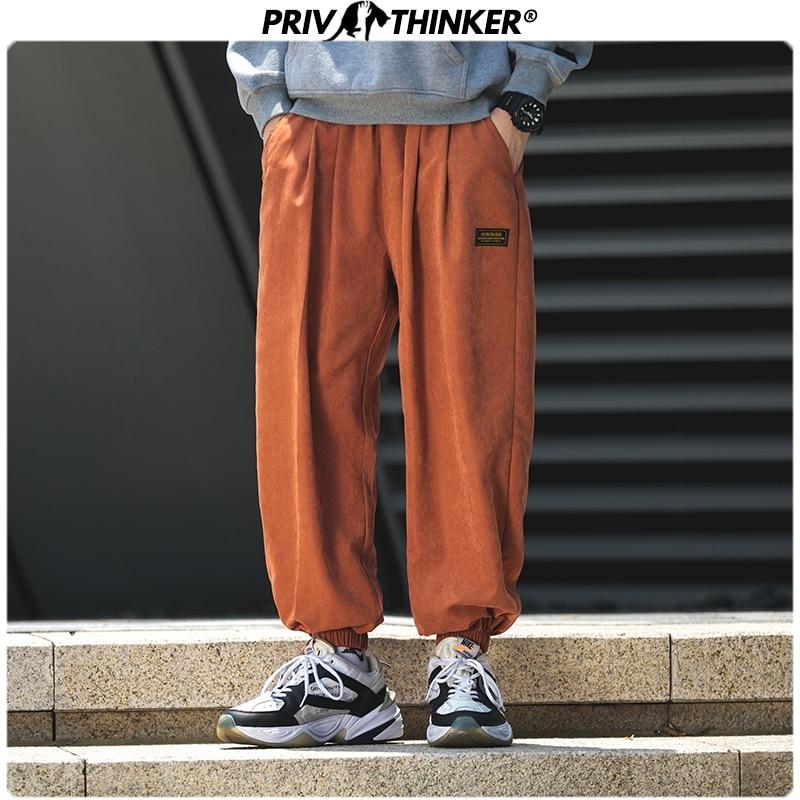 Privathinker Men 2019 Autumn Ankle-length Pants Pants Mens Casual Hip Hop Safari Style Joggers Male High Street Clothes Trousers