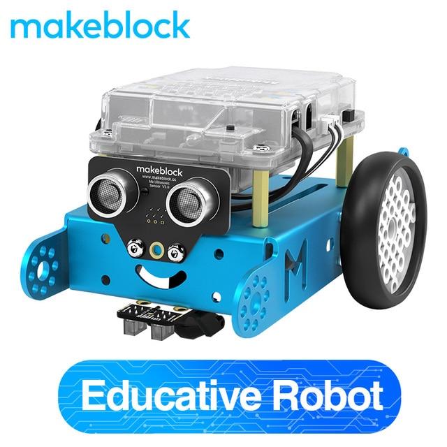Makeblock mBot DIY Kit de Robot, Arduino, programación de nivel de entrada para niños, STEM Education. (Azul, Versión Bluetooth)