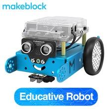 Makeblock mBot DIY Robot Kit, Arduino, программирование начального уровня для детей, обучение STEM. (Синий, версия Bluetooth)