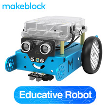 Makeblock mBot Robot DIY Kit, Arduino, programowanie na poziomie podstawowym dla dzieci, edukacja STEM. (Niebieski, wersja Bluetooth)